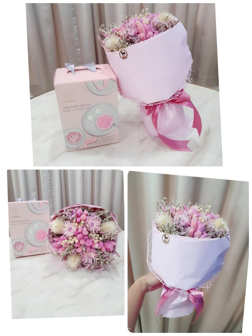 MOTHER'S DAY Rose Birdnest bloom with flower bouquet  gift set