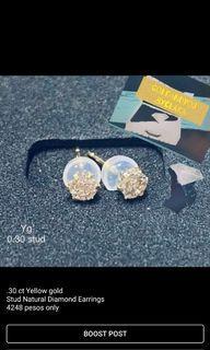 STUD DIAMOND EARRINGS .30CT