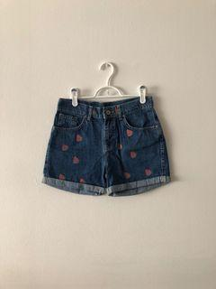 Watermelon design jean short