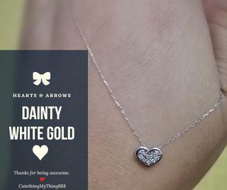 White gold ❤️ shape necklace
