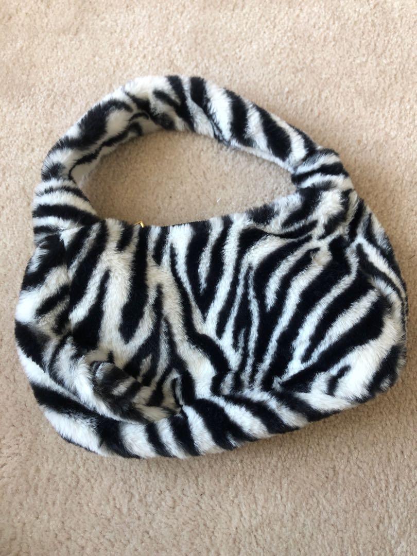 zebra & leopard furry bags