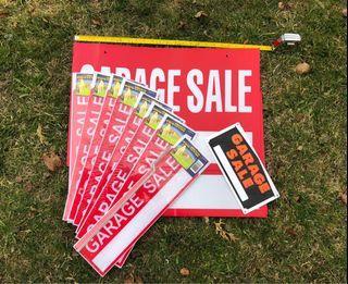 11 brand new unused garage sale signs