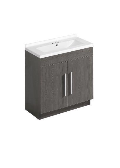 30inch bathroom vanity set - grey oak