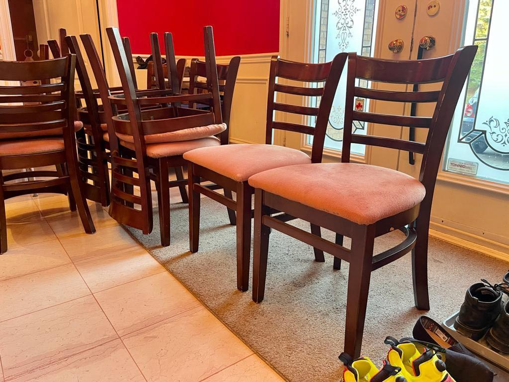 8 Solid Wood Dining Chairs