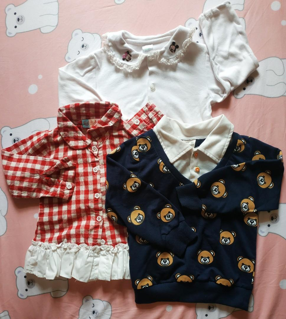 [一元加購]女童衣物三件組90-100cm