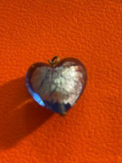 藍色愛心琉璃墜飾