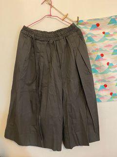 全新日系灰色寬褲