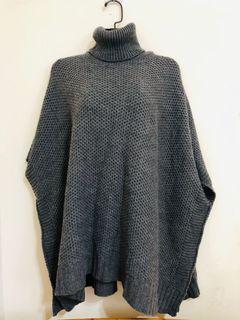 高領披肩、圍巾 兩用毛衣