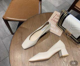 韓式氣質方頭包鞋