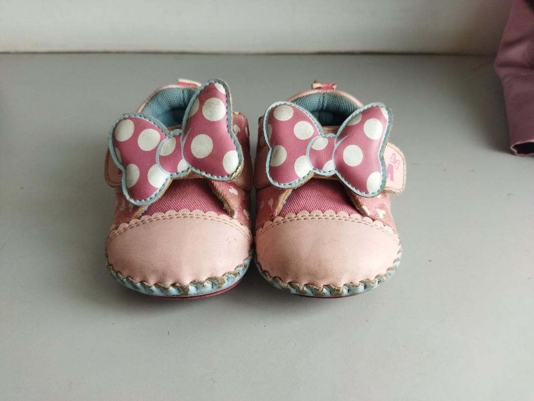 幼兒學步鞋 學步鞋 正版迪士尼米妮款 13.5