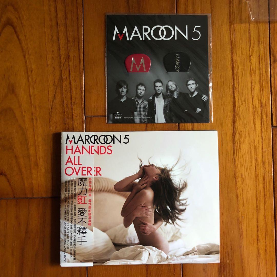 魔力紅 Maroon 5 / 愛不釋手 Hands All Over 附首批吉他pick組