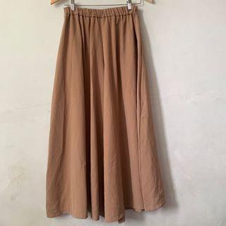 全新 The ladywore 駝色寬褲 像長裙 氣質穿搭 冬夏都可以穿