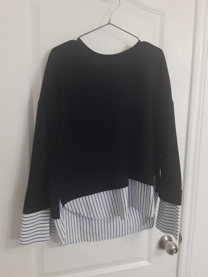 Ardene large sweater dark navy blue