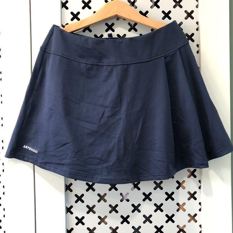 ARTENGO💙深藍色網球短裙 #小旅行