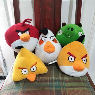 BONEKA ANGRY BIRD SET ( paket 5 pcs Boneka )