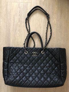 真Chanel shopping tote