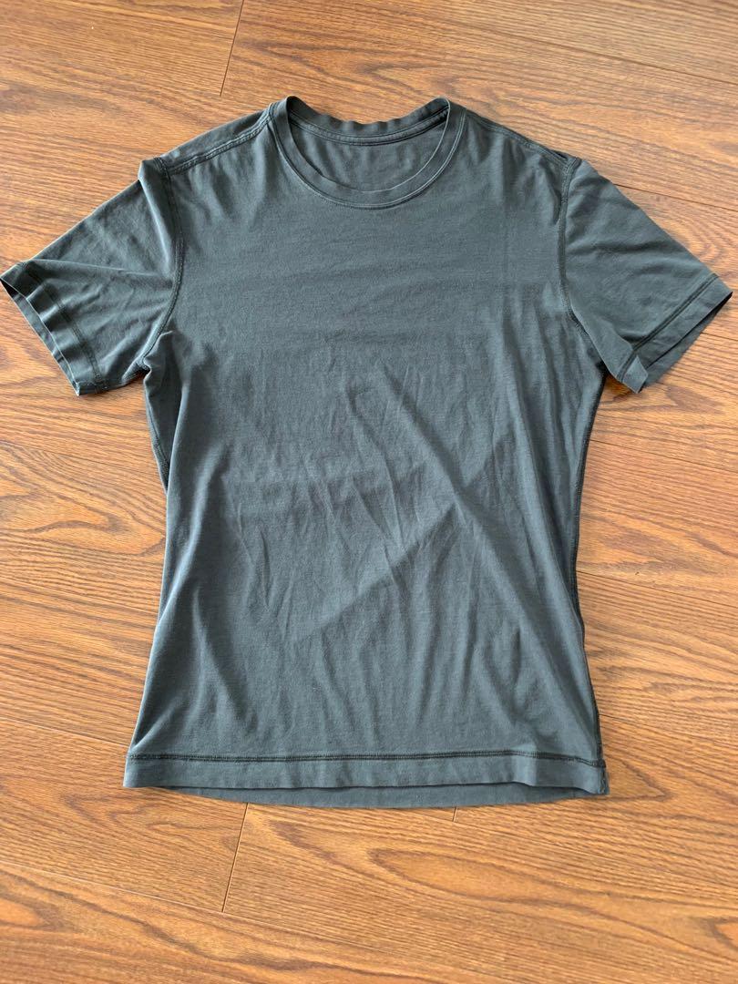 Charcoal Green Men's lululemon cotton t shirt