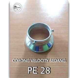 Corong Velocity Karburator Motor PE 28 Ukuran Sedang Warna Silver New Original