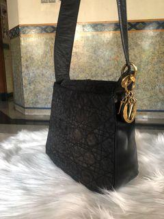 Dior Black Cannage Nylon bag