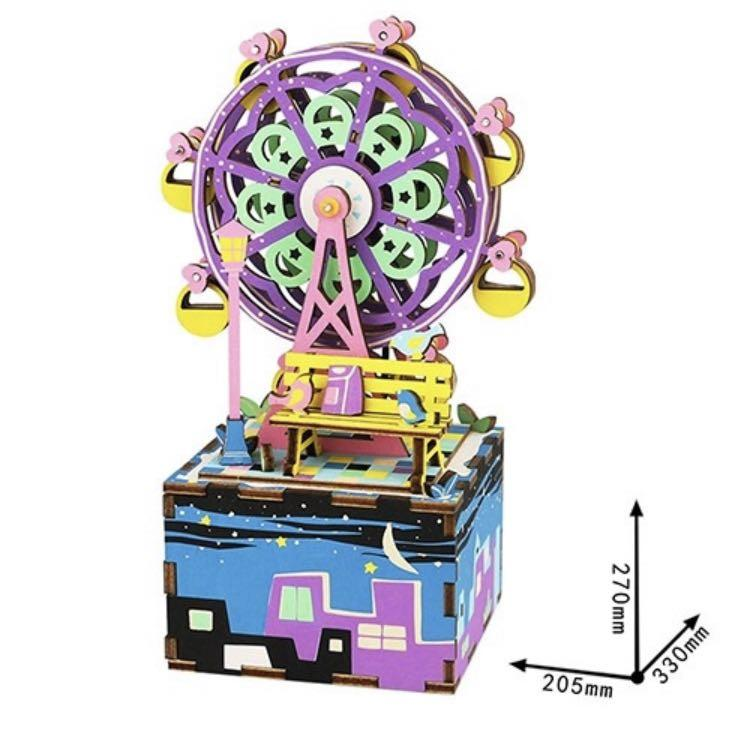 diy 八音盒 幸福摩天輪 am402 音樂盒