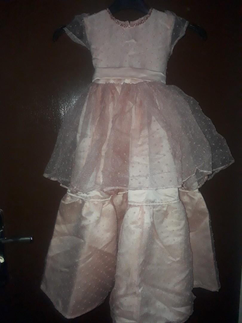Dress tumpuk pink detail payet