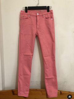 Gap 粉紅窄管褲