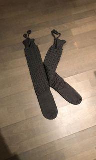 Hand knit knee high socks