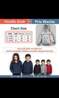 Jual rugi sweater hoodie jumper laki2/perempuan size L warna hitam