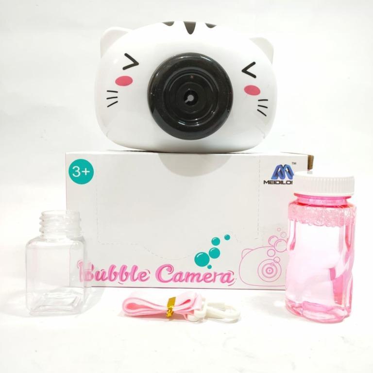 Mainan Bubble Camera Bubble Kamera Kucing Busa Sabun Gelembung Sabun