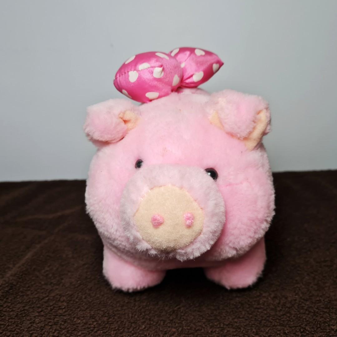 [PL] Boneka babi pig cow doll pink lucu size sedang