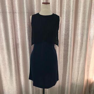 Preloved Black Lace - Navy Dress