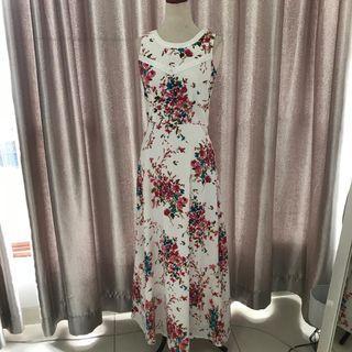 Preloved Contempo Flowery Long Dress