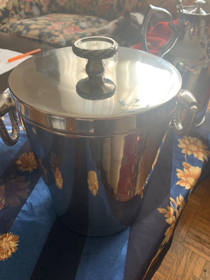 Ralph Lauren Vintage Stainless Ice Bucket
