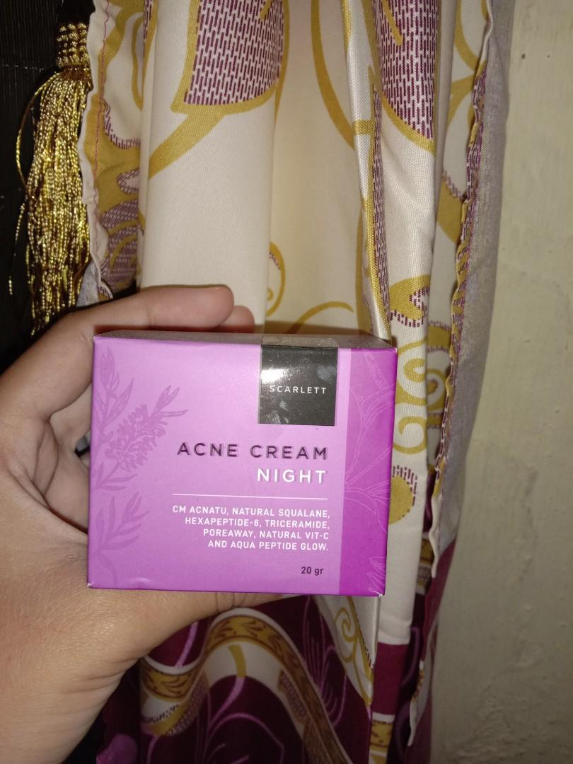 SCARLETT WHITENING ACNE NIGHT CREAM