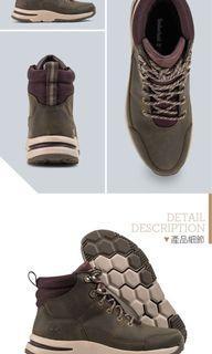 Timberland 女款棕灰色全粒面登山鞋 運動鞋 布鞋