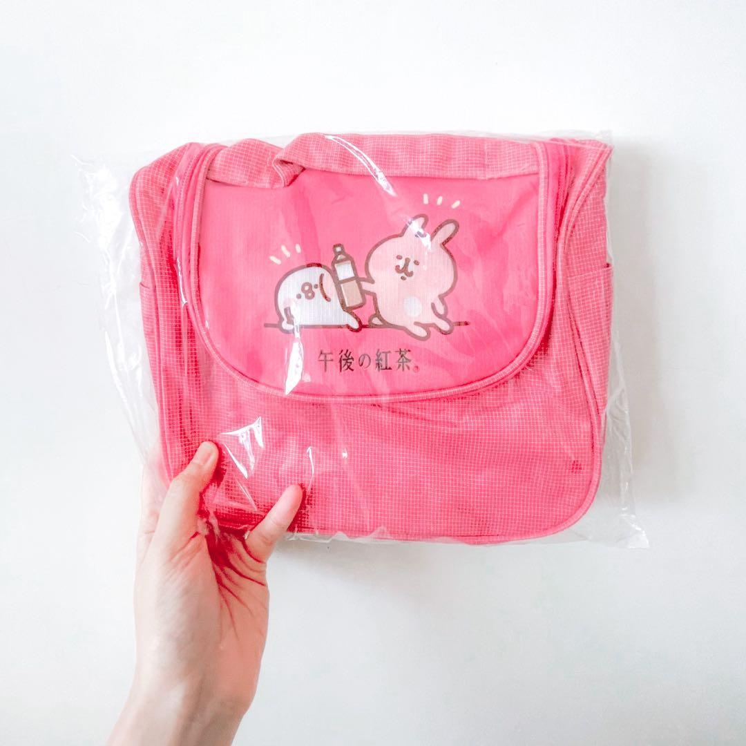 全新 / 7-11 限量 午後紅茶 kanahei  相機包 隨身包 卡娜赫拉的小動物 盥洗包 迪士尼 紅色 現貨