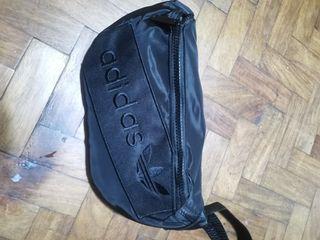 Adidas solid black belt bag