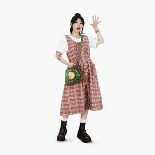 A‧PRANK :DOLLY 古著 洋裝 背帶裙 格紋