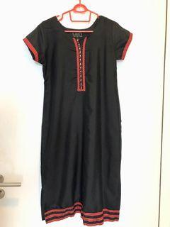 Black kurti short sleeve