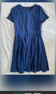 [99% new] Bread n butter navy blue one-piece dress