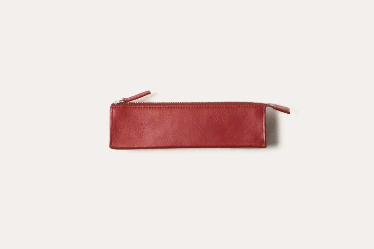 【全新附外盒】Business Leather Factory 紅色牛皮革聰明筆袋 筆盒 鉛筆袋 鉛筆盒❗️日本知名品牌 #收假