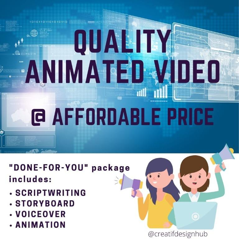[CA] Whiteboard Animation / 2D Animation / Explainer Video @ $188 ( $268 value)
