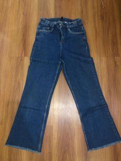 H&M fringe jeans