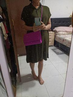 H&m purple sling bag