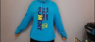 hoodie N+A biru