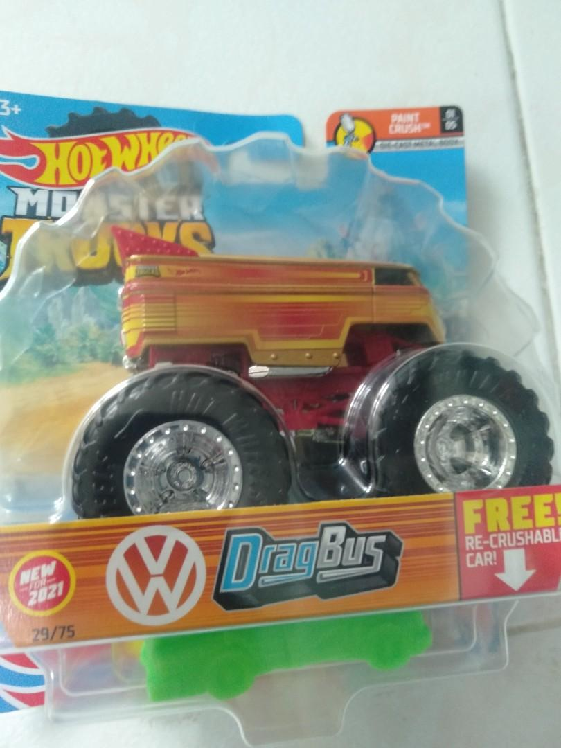 Hot wheels monster truck dragbus