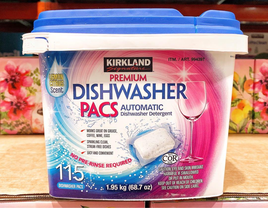 🍁KIRKLAND SIGNATURE 洗碗機專用清潔錠 115入