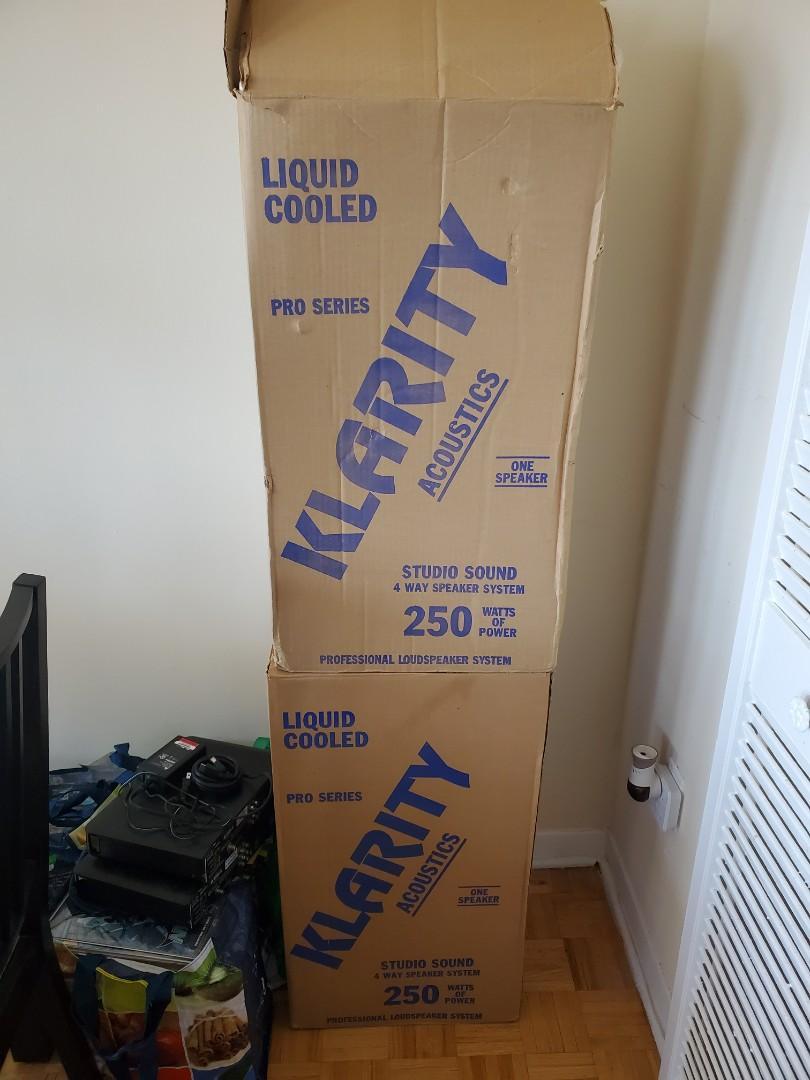 Klarity Acoustics 250 Watt Speakers