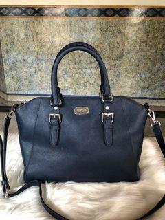Michael Kors ciara large satchel navy