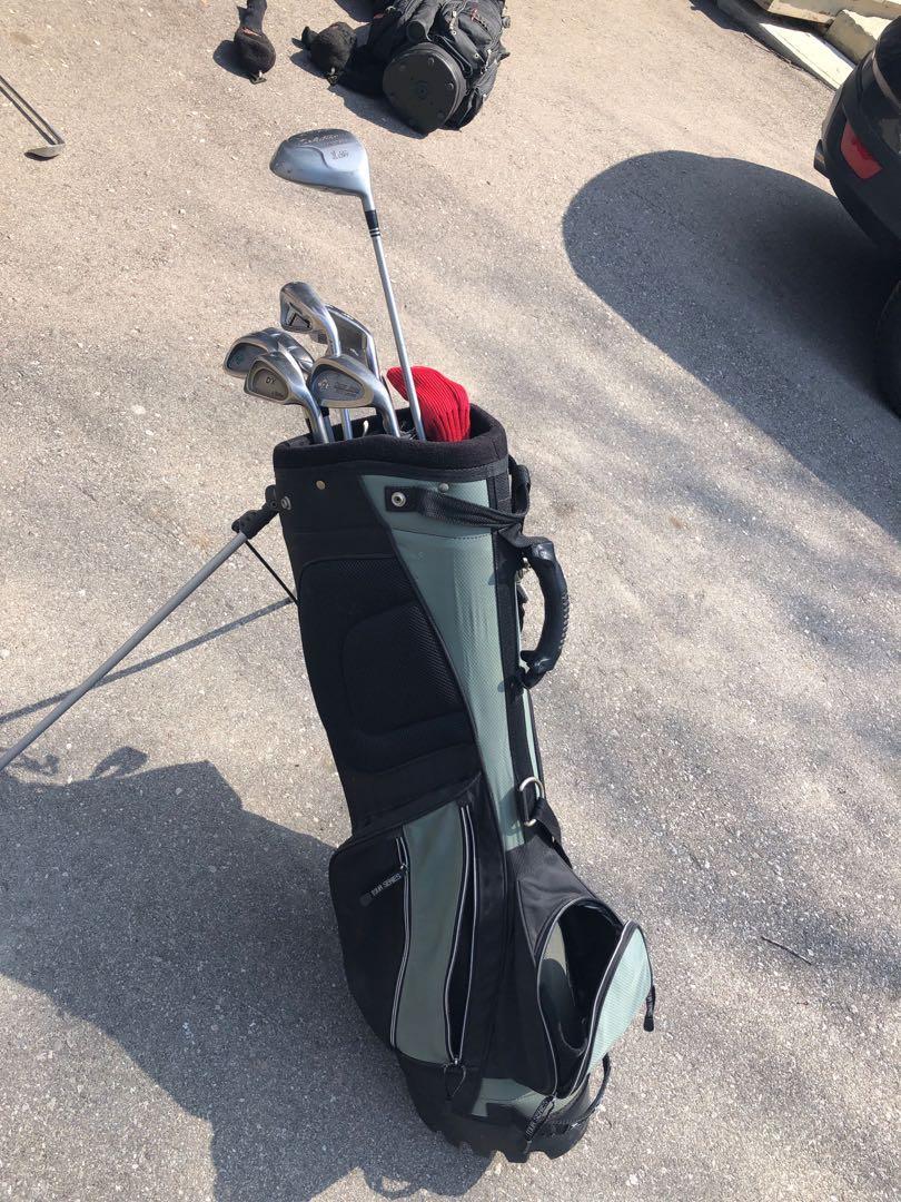 Mix match golf set with tees